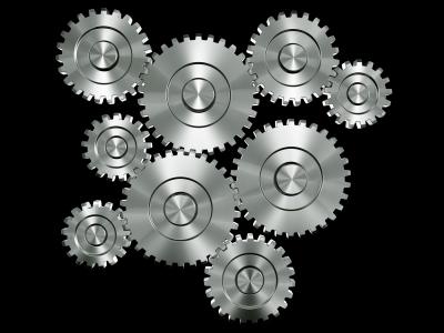 Synchronized gears